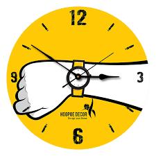 buy hoopoe decor wrist watch theme trendy designer wall clock