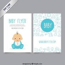 baby flyer vector free