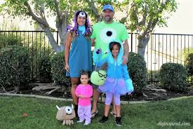 monsters inc costumes s inc family costumes diy inspired