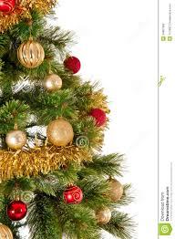 decorated christmas tree on white background stock photo image