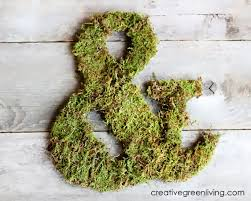 moss covered letters how to make a moss covered monogram creative green living