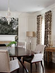 Dining Room Curtains Fancy Dining Room Curtains In Interior Home Design Makeover With