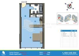floor plan studio type hydra avenue