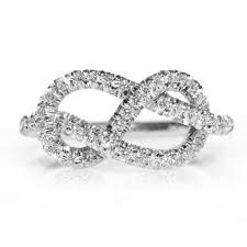 infinity diamond ring infinity engagement ring unique engagement ring the