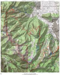 Topographic Map Of Utah by Wasatch Crest Trail