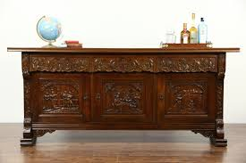 Antique Server Buffet by Sold Dutch Oak Sideboard Server Buffet Or Tv Console Carved