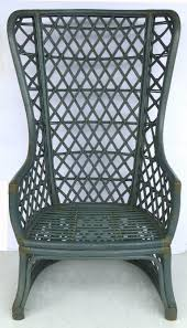 Brown And Jordan Vintage Patio Furniture by Brown Jordan Vintage High Back Painted Rattan Chairs For Sale At
