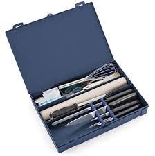 mallette de cuisine sacoche à couteaux unie 20 outils pour la cuisine