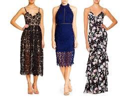 fall wedding guest dresses bardot gemma halter lace sheath dress rank style