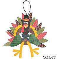 thankful turkey craft kit orientaltrading nursery
