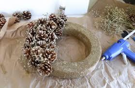 pine cone wreath pine cone wreath diy winter decor tutorial