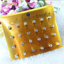 allergy free jewelry 2018 wholesale 12pairs pack fashion multicolor acrtlic
