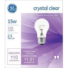ge crystal clear 15 watt a15 2 pack walmart com