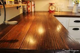 diy kitchen countertop ideas 15 amazing diy kitchen countertop ideas wide plank butcher