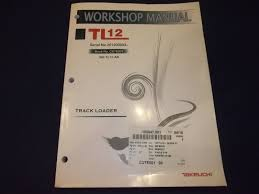 takeuchi tl12 track loader service shop repair manual book s n
