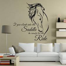horse riding wall decal quote vinyl art if you climb into the