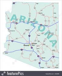 Arizona On Us Map signs and info arizona state interstate map stock illustration