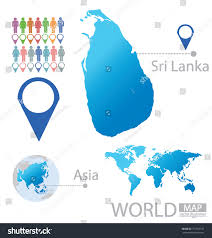 Sri Lanka On World Map by Sri Lanka Asia World Map Vector Stock Vector 151554137 Shutterstock