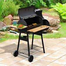 Backyard Charcoal Grill by Aosom Outsunny Charcoal Bbq Grill Offset Smoker Combo With