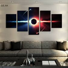 Paintings For Living Room Aliexpress Com Buy 5 Pcs No Frame Large Hd Abstrac Planet