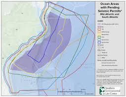 Atlantic Coast Map Seismic Testing For Atlantic Offshore Drilling Could Begin This