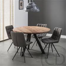 table ronde de cuisine table de cuisine ronde industrielle pieds métal sur cdc design