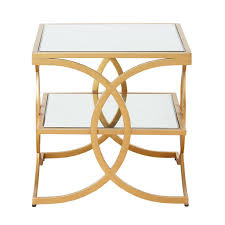 Gold Table L Evan Gold End Table