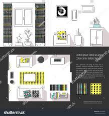 interior design magazine page layout web stock vector 446518066