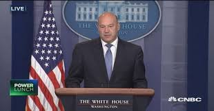 white house advisor gary cohn our plan is based on lower rates