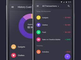 finance app for android walle finance app android history month all transactions by