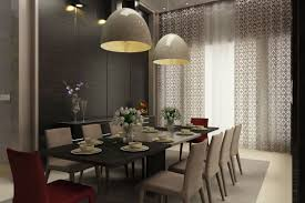 awesome pendant lighting over dining room table good home design