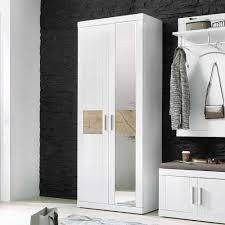 garderobenschrank design garderobenschrank jaena in weiß hochglanz holz pharao24 de