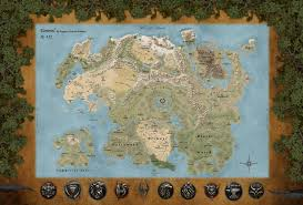 Map Of Nirn The Map Of Tamriel By Watosh66 On Deviantart