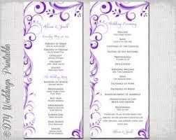 Wedding Bulletins Examples The 25 Best Wedding Ceremony Booklet Templates Ideas On Pinterest