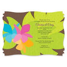 custom bridal shower invitations luau personalized bridal shower invitations bigdotofhappiness