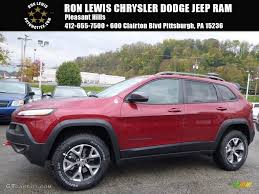 jeep cherokee trailhawk red 2017 deep cherry red crystal pearl jeep cherokee trailhawk 4x4