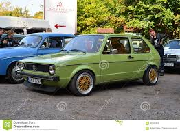 volkswagen green old green volkswagen golf 1 editorial stock image image 60344379