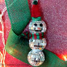 mirror snowman ornament the country chic cottage