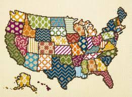 united patterns united states map needlepoint kit dimensions
