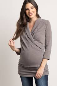 nursing top mocha solid knit maternity nursing top