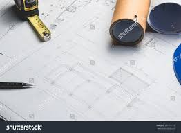 what size paper are blueprints printed on engineering diagram blueprint paper drafting project stock photo