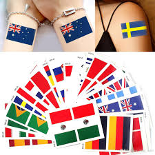 Best National Flags 2018 World Cup National Flag Tattoo Sticker Temporary Body Face