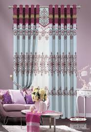 2017 new design europe type curtain cationic jacquard flocking