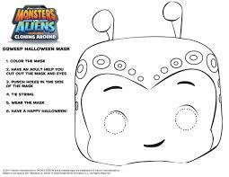 monsters aliens sqweep mask printable craft printable