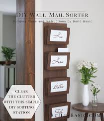 build a diy wall mail sorter u2039 build basic