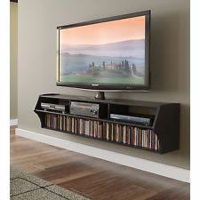 Floating Storage Cabinets Floating Wall Storage Shelf Media Cabinet Dvd Movies Books Wood