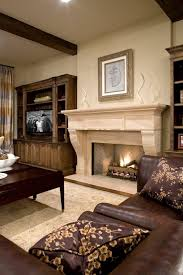 Houzz Fireplace Mantels Family Room Traditional With Neutral - Houzz family room