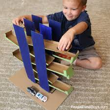 How To Build A Car Garage by Cardboard Box Ramps Race For Wheels Cars Matchbox Cars