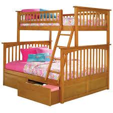 Barbie Bunk Beds Atlantic Furniture Columbia Twin Over Full Bunk Bed Hayneedle