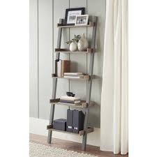 furniture home ladder shelf bookcases walmart com leaning tree